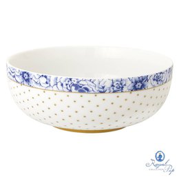 Bowl M Flowers Royal White Pip Studio