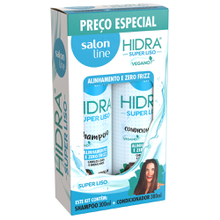 Kit Shampoo + Condicionador Salon Line Hidra Super Liso 300ml
