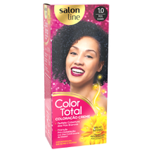 Coloração Color Total Salon Line Preto Azulado - 1.0