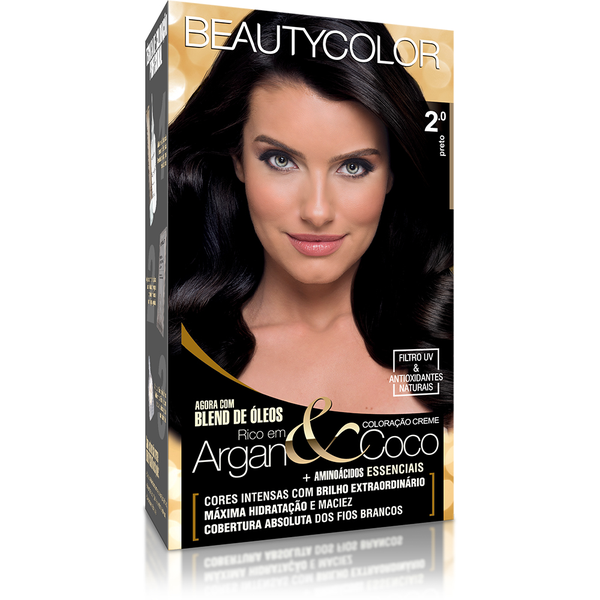 Coloração Beautycolor Kit Preto - 2.0