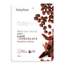 Máscara Facial Ruby Rose Skin Café E Chocolate 2 em 1 25ml