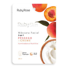 Máscara Facial Ruby Rose Skin Pêssego E Creme 25ml