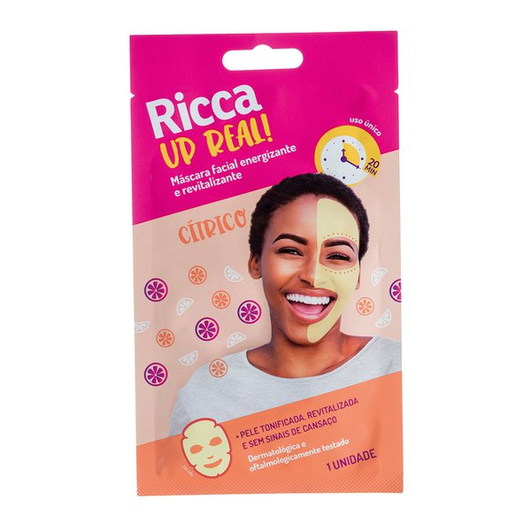 Máscara Facial Energiza Up Real 1 Unidade - Ricca