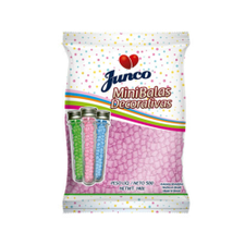 Mini Balas Decorativas De Coco Rosa 500g - Junco Unidade