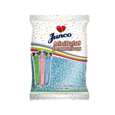 Mini Balas Decorativas de Coco Azul 500g - Junco Unidade