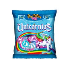 Pirulito Pop Tattoo Unicórnios Mini 200g - Boavistense Un