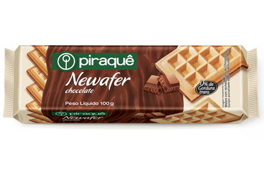 Wafer com Recheio de Chocolate 100g - Piraquê Unidade