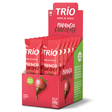 Barra De Cereal Trio Morango E Chocolate 12un