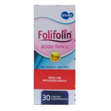 Folifolin 5mg caixa com 30 comprimidos