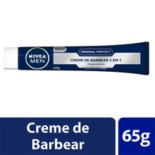 Creme de Barbear 2 em 1 Nivea Men Original Protect 65g