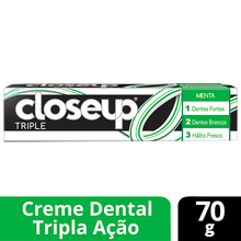 Creme Dental com Flúor Menta Closeup Triple 70g