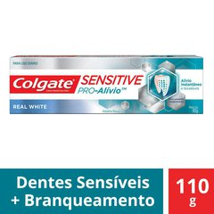 Creme Dental Colgate Sensitive Pro-Alívio Real White 110g