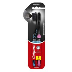 Escova Dental Colgate Slim Soft Black 2 Unidades