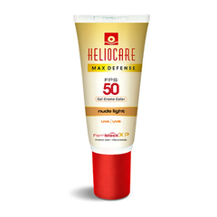 Heliocare Max Defense Fps50 gel Creme color Nude Light 50g