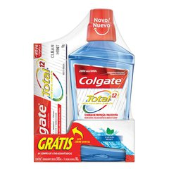 Enxaguante Bucal Colgate Total 12 Clean Mint 500ml Grátis 1 Creme Dental 90g
