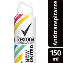 Desodorante Antitranspirante Aerosol Rexona Now United 150ml