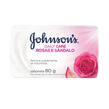 Sabonete Johnsons Daily Care Rosas e Sândalo 80g