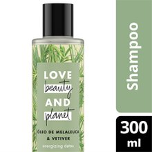 Shampoo Love Beauty and Planet Energizing Detox Óleo de Melaleuca & Vetiver 300ml