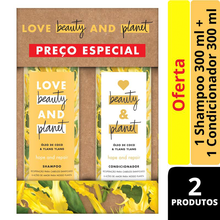 Kit Shampoo + Condicionador Love Beauty and Planet Oleo de Coco e Ylang Ylang 300ml cada