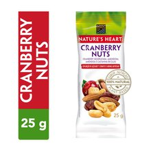 Snack Nature's Heart Cranberry Nuts 25g