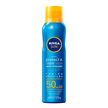 Protetor Solar Nivea Sun Spray Protect & Toque Seco FPS50 200ml