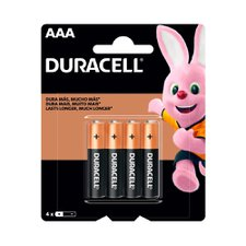 Pilhas Duracell AAA com 4 Unidades