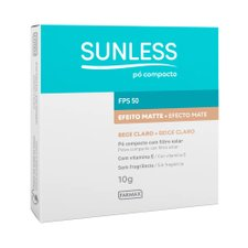 Pó Compacto Sunless Efeito Matte FPS 50 Bege Claro 10g