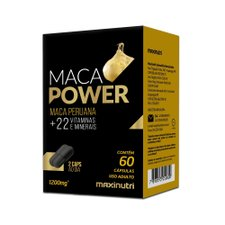 Maca Power 1200mg com 60 Cápsulas Maxinutri