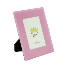 Porta Retrato de Vidro Rose 10x15 cm 61053 Royal