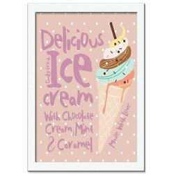 Quadro Decorativo Ice Cream Delicious