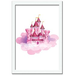 Quadro Decorativo Unicorn Castelo