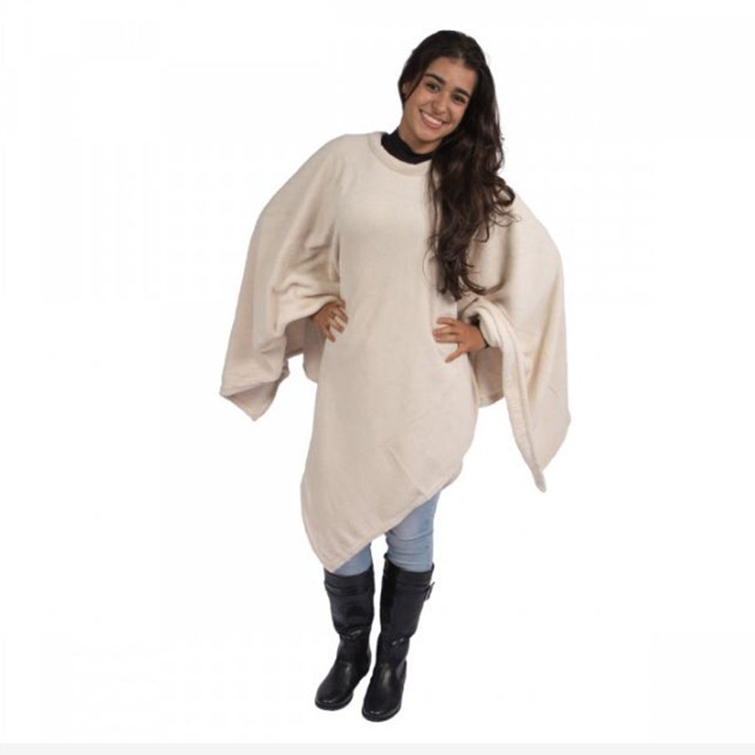 Poncho Inverno Adulto Bege Nepal
