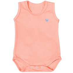 Body de Bebê Regata Basic Coral