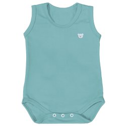 Body de Bebê Regata Basic Verde Malva