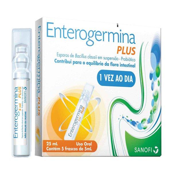 Enterogermina Plus 4bcfu 5ml Caixa Com 5 Frascos Com 5ml De Suspensão De Uso Oral