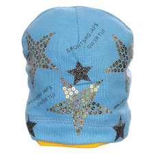 Touca Azul Claro Infantil Star Bordada