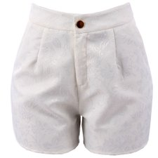 Short Hot Pants Estampa Alto Relevo Floral