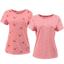 "Kit 2 Camisetas Feminina Baby Look Manga Curta Estampa ""P"""