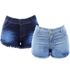 "Kit 2 Short Jeans Hot Pants Levanta Bumbum ""36"""