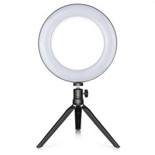Ring Light Maquiagem Led Tripé De Mesa 6 Polegadas 16 CM