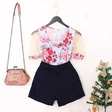 "Kit Insta Lovers Blusa Princesa ""G""+ Short Clochard ""G""+ Bolsa Luxo"