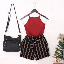 "Kit Insta Lovers Regata + Short Clochard + Bolsa Mini Hobo ""G"""
