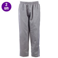 "Kit 2 Calças Masculina Tactel Plus Size Listra Lateral ""G1"""