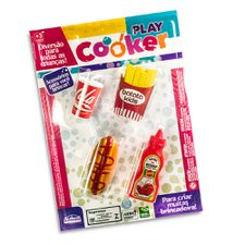 Kit Fast Food Hot Dog Com 4 Peças Play Cooker