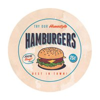 Sousplat Decorativo Hamburguers Com Base 35cm - Nsw