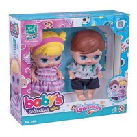 Boneca Babys Collection Gêmeos - Super Toys