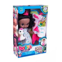 Boneca Babys Collection Conto de Fadas Negra - Super Toys