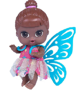 Boneca Babys Collection Mini Fadinha Negra - Super Toys