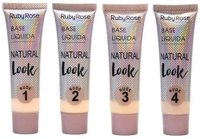 Base Líquida Natural Look Nude Cor Sortida - Ruby Rose