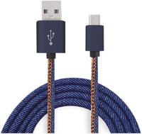 Cabo de Dados Micro Usb Turbo 3a com 1 Metro Jeans - Tower Glass